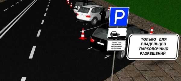 знаком 8 9 1 стоянка только для владельцев парковочных разрешений