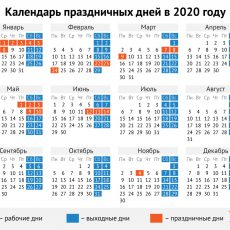 рабочий календарь 2020