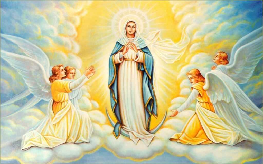 Матерь Божья в сопровождении ангелов