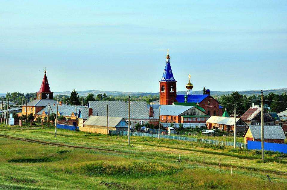 Русская красивая деревня