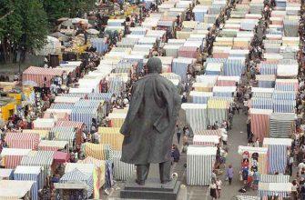 Вещевые рынки в столице девяностых