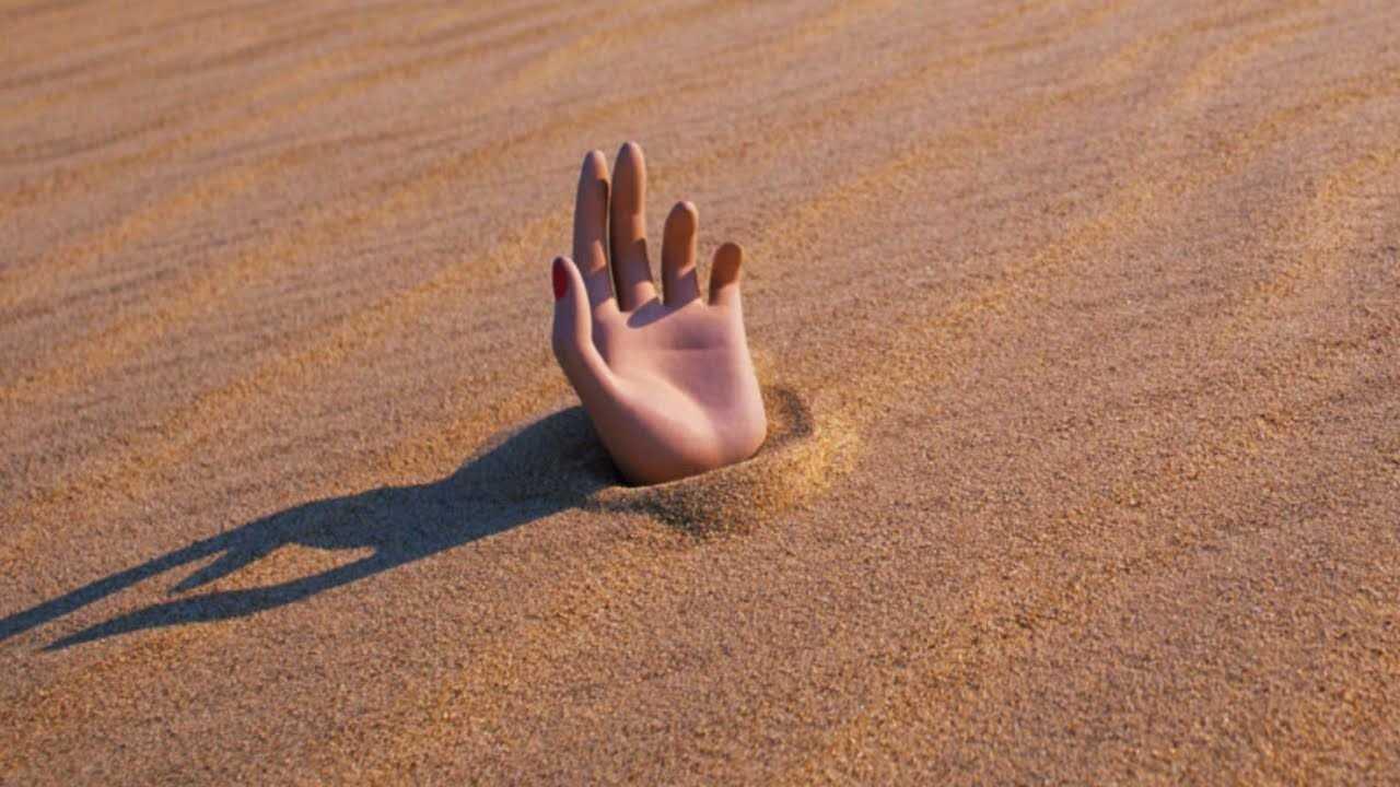 Стой песка в пустыне