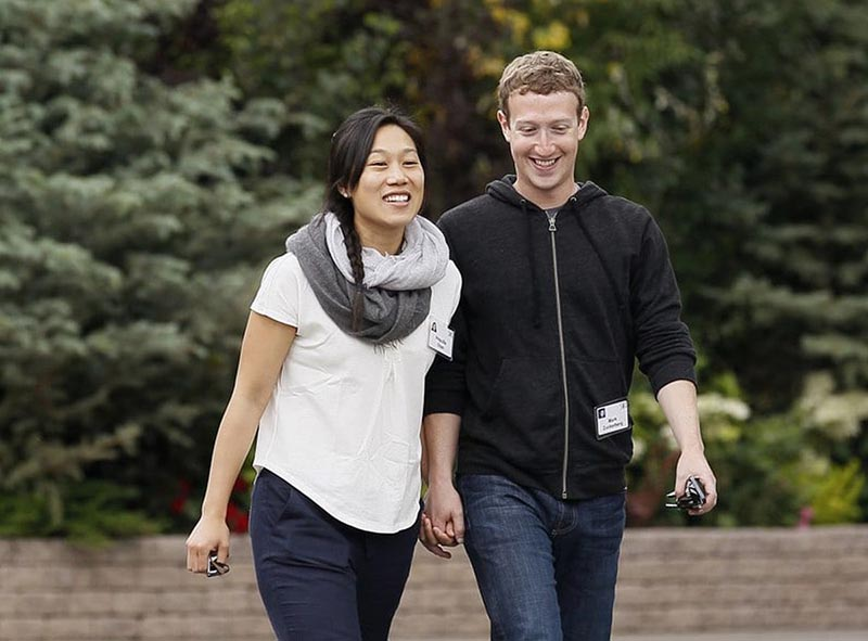 Марк Цукерберг и Присцилла Чен