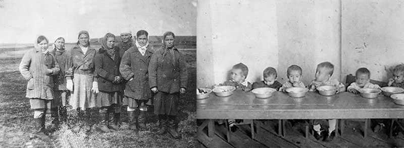 Дети и беременные в лагере АЛЖИР
