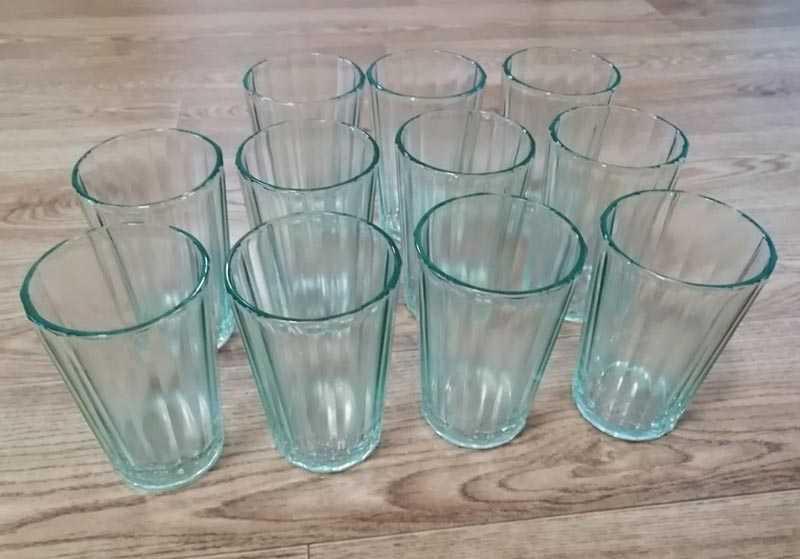 граненые стаканы, которые дошли до нашего времени, создавались особым методом прессования.