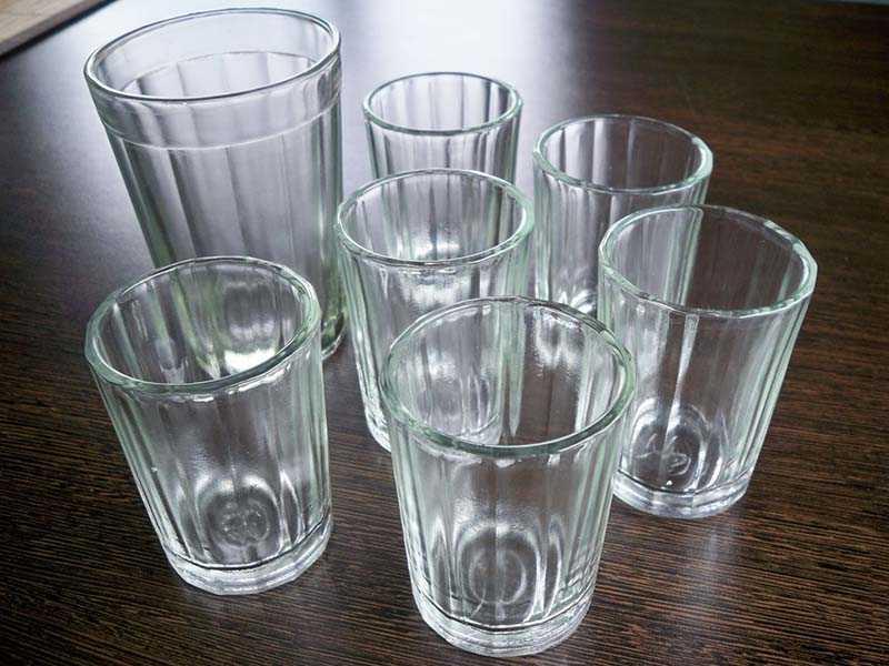 Варианты возникновения граненого стакана