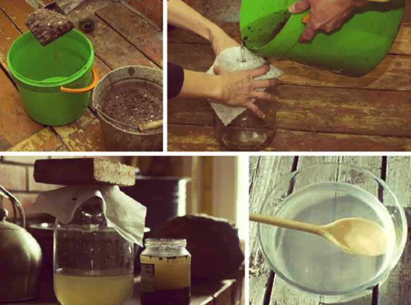Способы изготовления щелока