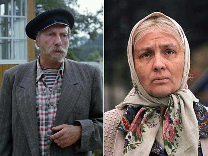 в известной картине «Любовь и голуби» сыграли жену и мужа — бабу Шуру и дядю Митю