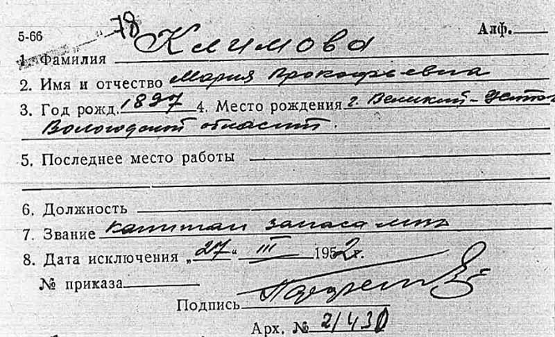 Капитан запаса Мария Климова