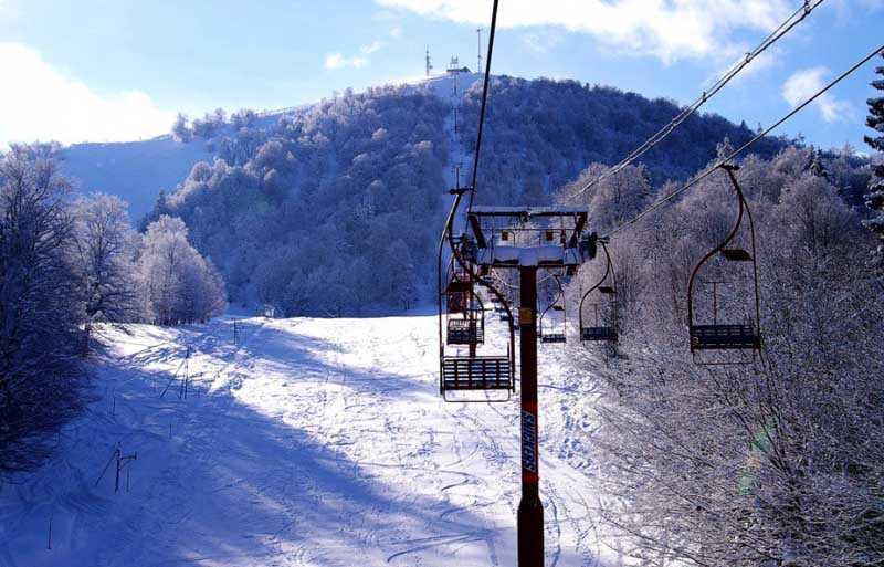 Лыжники в Бакуриани