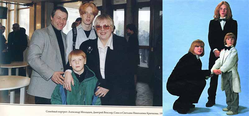 Оба сына актрисы Крючковой выбрали творческий путь вслед за матерью.