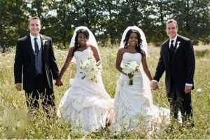 Близняшки замуж за близнецов