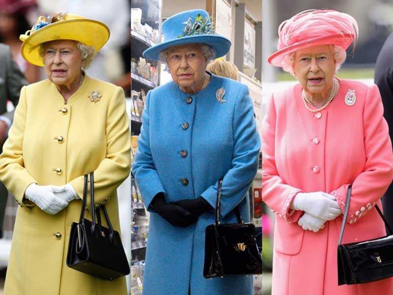 сумка нужна королеве для подачи сигналов подчиненным, она вовсе не пустая. Т