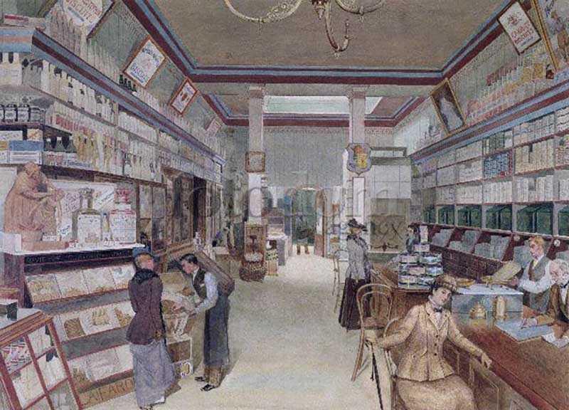 Раньше до 20 века магазины выглядели совершенно иначе.