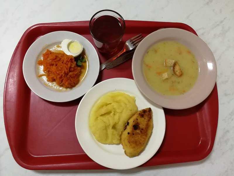 Полноценный комплексный обед в столовой за 1 рубль