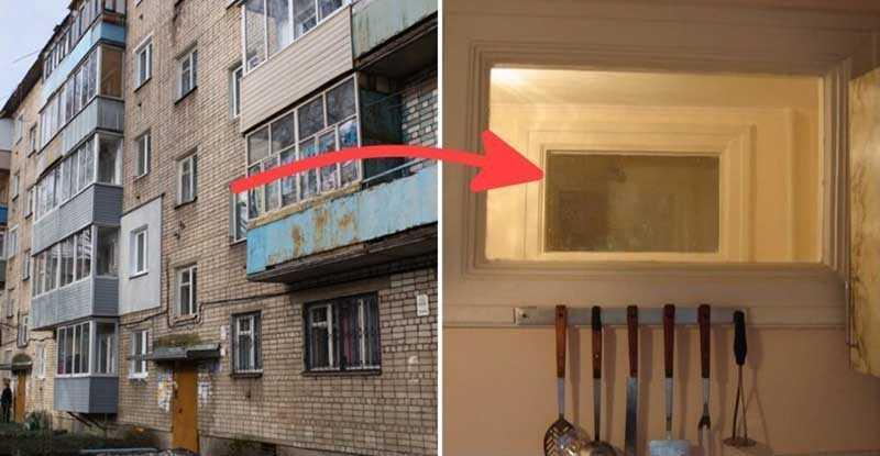 В настоящее время существует несколько версий необходимости окна между ванной комнатой и кухней.
