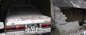 Тойота Марк 2. запертая в гараже