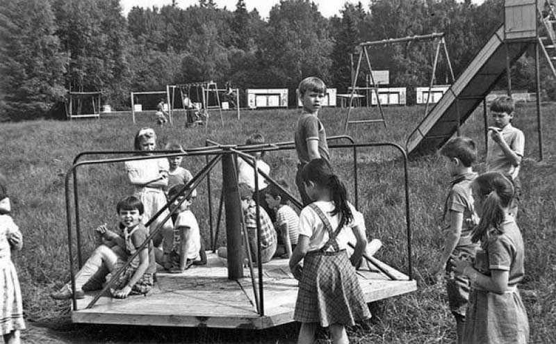 Детские площадки в Советском Союзе