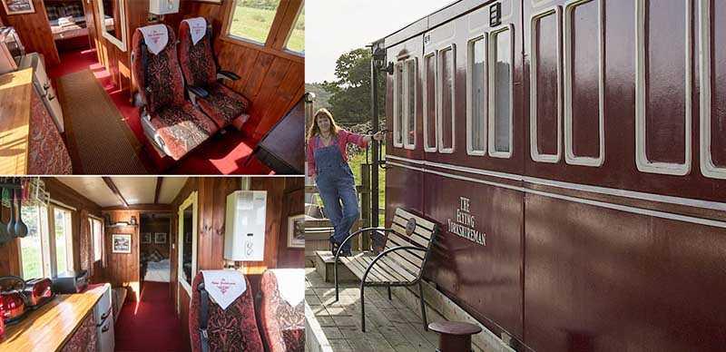 Эмма Хаммонд решила построить свой вагончик-гостиницу. Назвала она его «Летучий йоркширец».