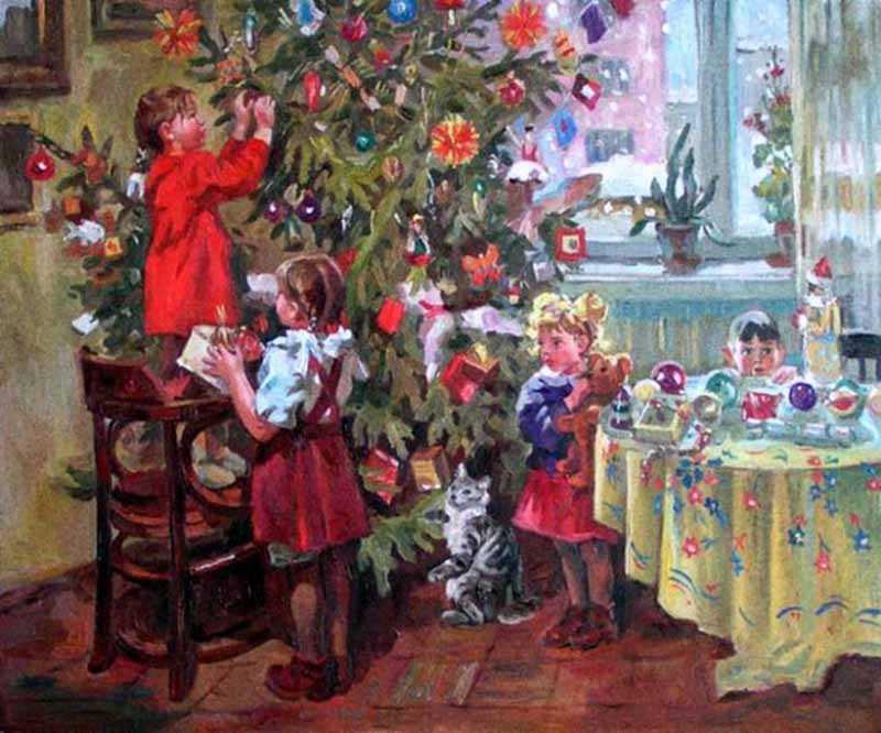 не буржуйское Рождество, а Советский Новый Год.