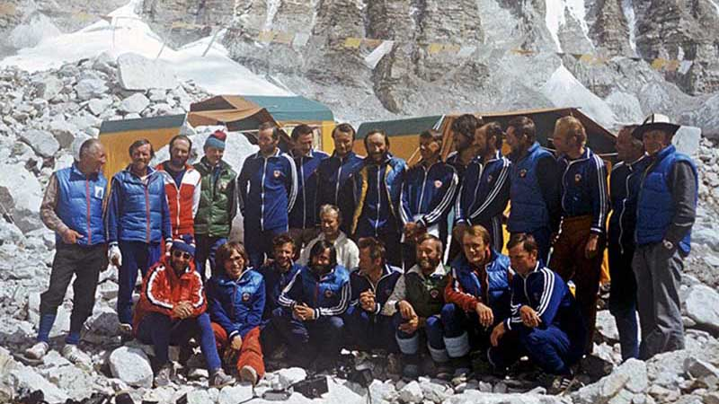 4 мая Мысловский и Балыбердин смогли подняться на вершину Эвереста.