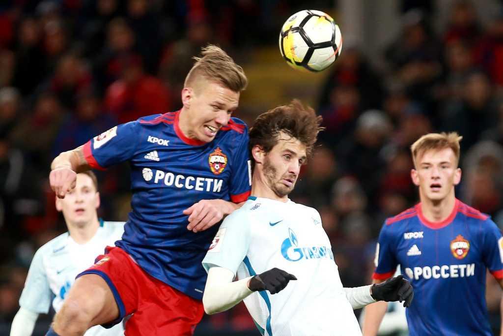 «Зенит» обыграл ЦСКА в чемпионате России по футболу