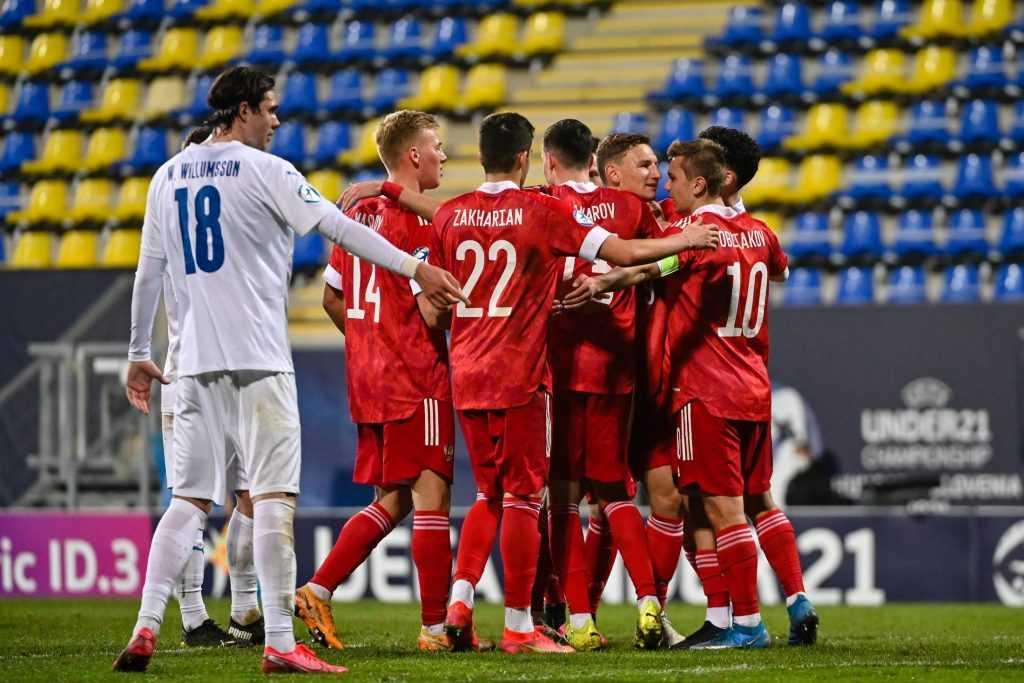 Молодежная сборная России по футболу обыграла Исландию в ЧМ Европы