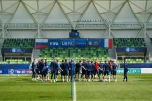 Молодежная РФ по футболу проиграла французам на матче Евро-2021