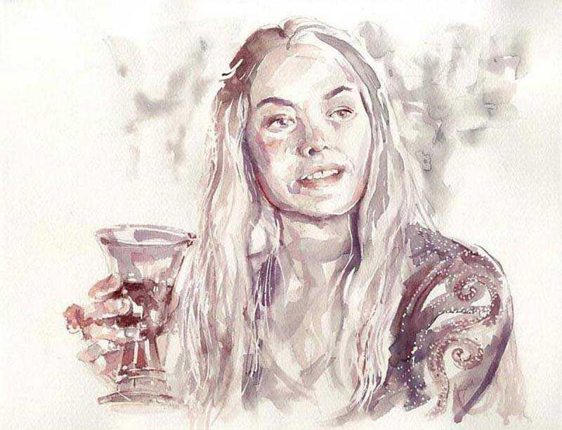 Саня говорит, что рисование вином схоже по технике с работой акварелью