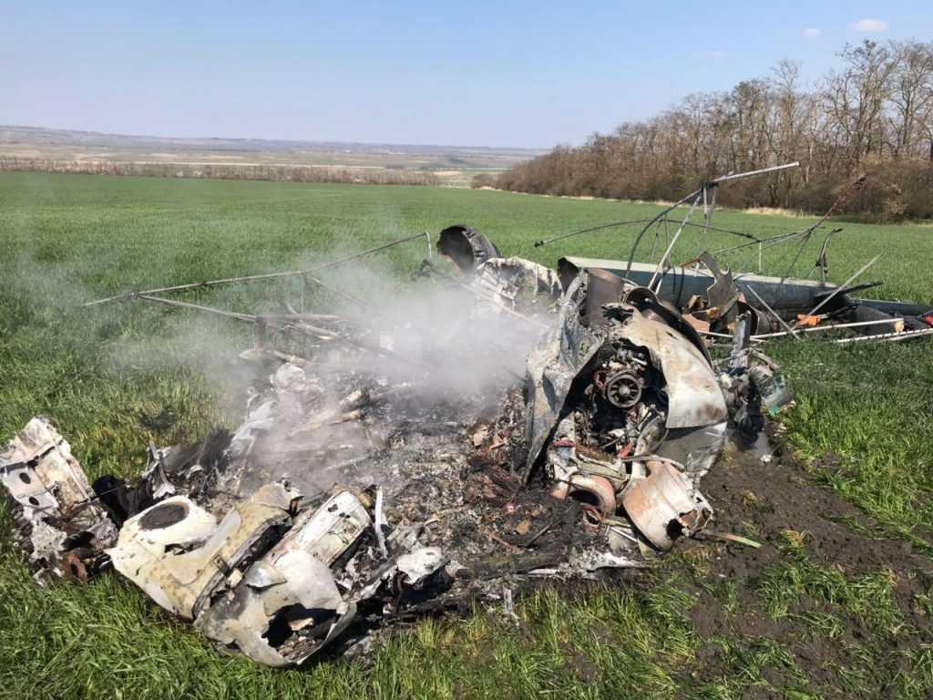 В Краснодарском крае произошло крушение вертолета