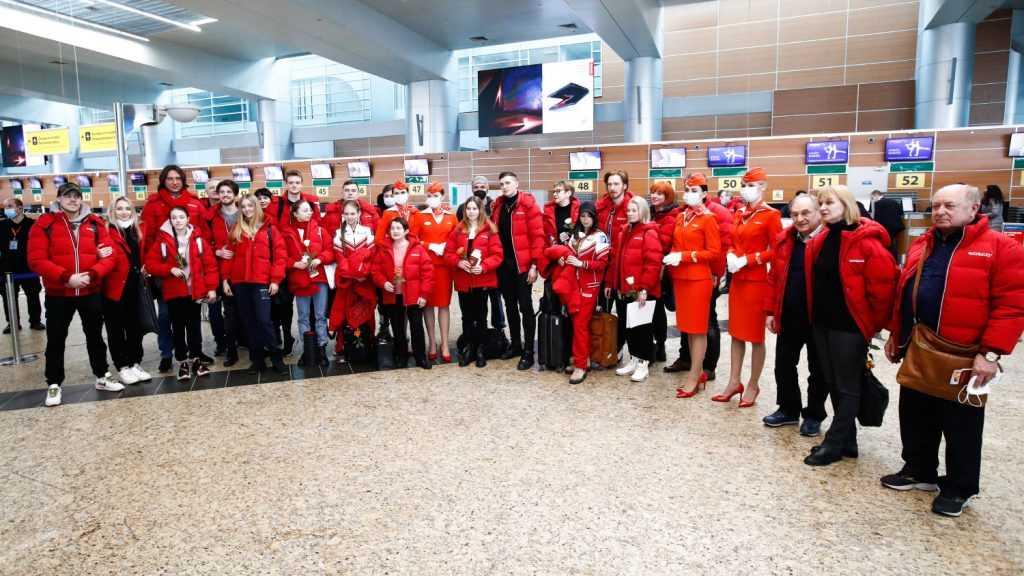 Российская сборная по фигурному катанию прибыла в Осаку для участия в ЧМ