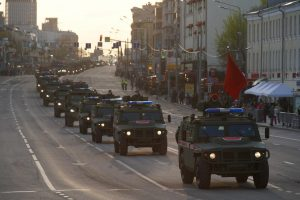 Прошла ночная репетиция парада Победы на Красной площади