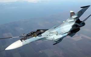 Российский истребитель Су-30 предупредил нарушения границы тремя французскими самолётами