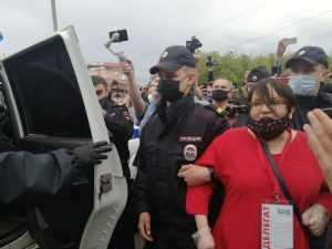 В Новгороде задержали Галямину на «Земском съезде»