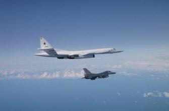 Бомбардировщики Ту-160 пролетели над Балтийским морем