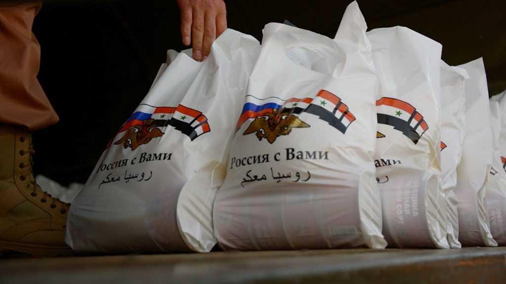 Россия оказала гуманитарную помощь сирийскому городу Кумхана