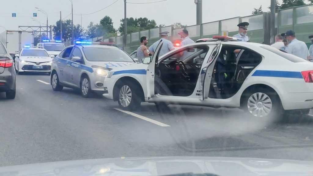 В Москве арестовали угонщика полицейского автомобиля