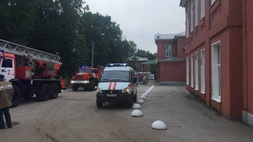 Назвали причину пожара в больнице Рязани