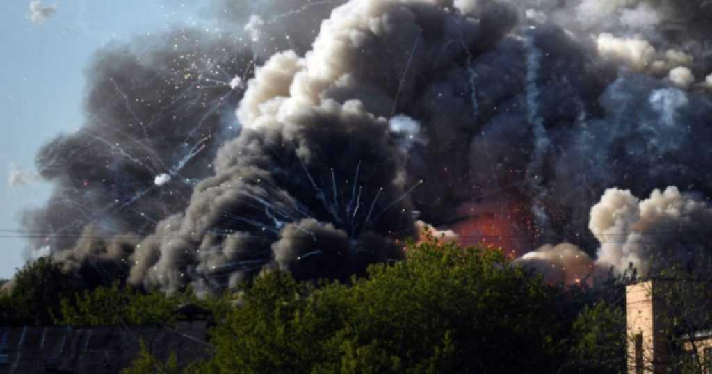 В Москве пожар на складе с пиротехникой