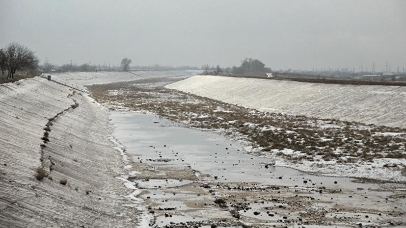 В Крым просочилась украинская вода из-за разрушения плотины