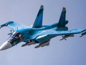 Минобороны показало, как истребитель Су-34 уничтожает цели