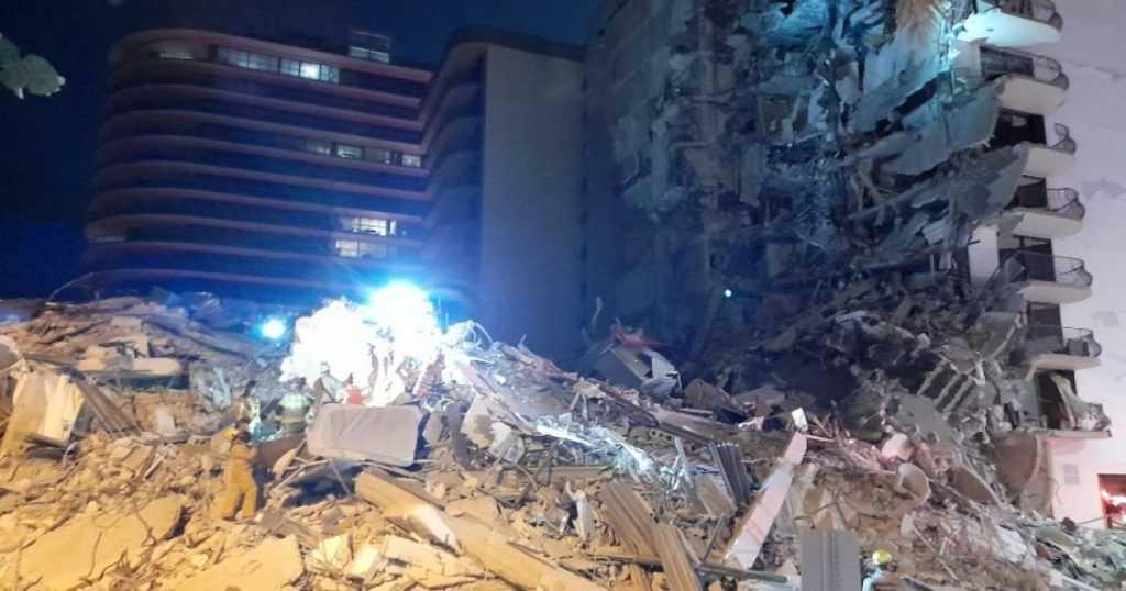 Во Флориде обрушился 12-этажный дом, под завалами ищут больше 50 человек