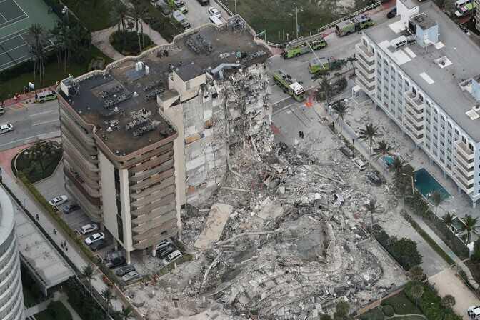 Во Флориде произошло обрушение 12-этажного здания