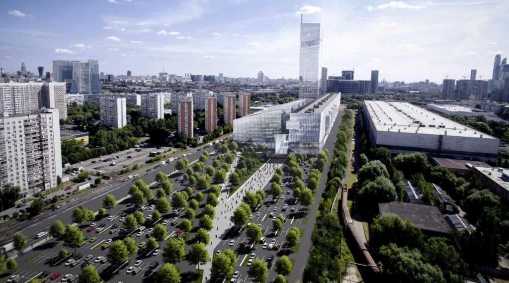 В Москве возводят высотный Национальный космический центр