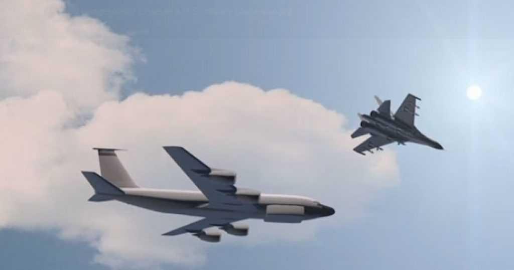 Инцидент над Черным морем: российский Су-30 сопроводил американский самолет-разведчик