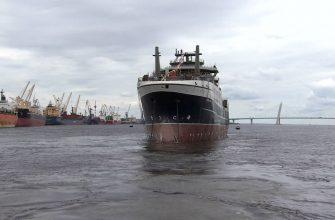 Сегодня прошёл торжественный спуск на воду рыболовного судна «Механик Сизов»