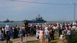 В Честь Дня Военно-морского флота в Балтийске прошёл парад